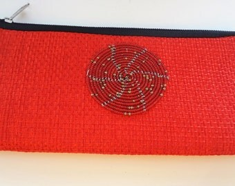 Pouch With Beads Medallion