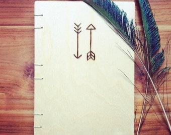 Wood notebook Arrow