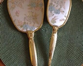 Mirror and Brush Vanity Set