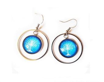 Tree of life earrings - shaft of light