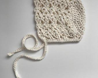 """100% cotton crochet """"Lily Bonnet"""""""