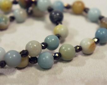 Genuine Amazonite Bracelet Semi Precious Stone Gemstone Healing Crystal Chakra Metaphysical Gift
