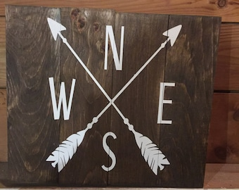 Custom Wooden Sign NSEW North South East West