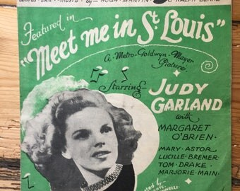 "Meet Me In St Louis - ""The Trolley Song"" - sheet music (Judy Garland)"