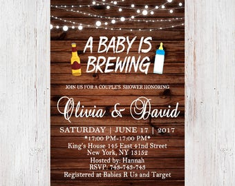 Baby Shower Invitation, Baby is Brewing, A Baby is Brewing Invitation,Beer and Babies Party Invitation,Brewing Baby Shower 173