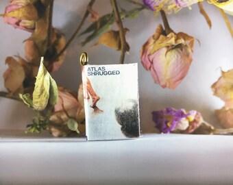 Atlas Shrugged- Miniature Book Charm Necklace