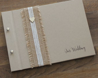 "Guest Book A4, Wedding Photo Book, ""Rustic"", Weddings, Engagements, Birthdays, Anniversaries"