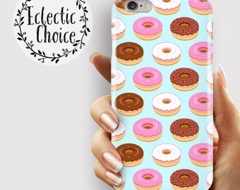 Blue Doughnut iPhone 6s case, iPhone 7 Plus case, iPhone 6 case, 5s, 5c, kawaii case , pastel , pink , food , doughnuts , simpsons