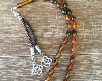 100% Original Imported Amber Prayer Beads, Rosary, Tasbeeh, Tesbih, Meditation Stress Relieving Beads, Hand Made in GRAND BAZAAR-ISTANBUL!