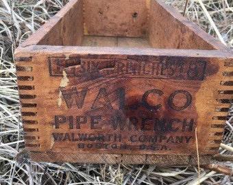 "Wooden Storage Box ""Walco"""