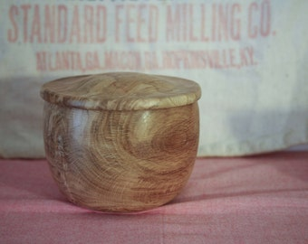Wood Bowl with Lid