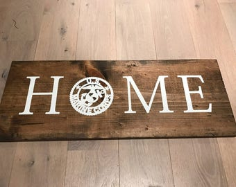 Marine Corps Wooden HOME sign