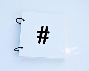 "5""X5""  instagram photo book, scrapbook, mixed paper journal, project life, mini book, photo book, hashtag mini book"