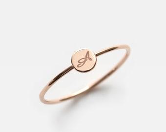 14K Gold Disc Ring