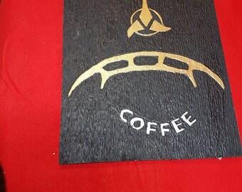 hand carved klingon coffee