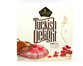 Turkish Delight (Rose) Lokum (14 0z)