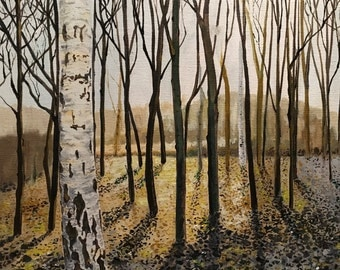 Winter Birches - Print