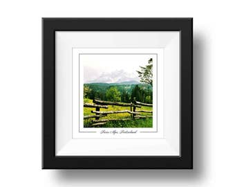 Swiss Alps Print, Summer Alps Photography, Square Wall Art