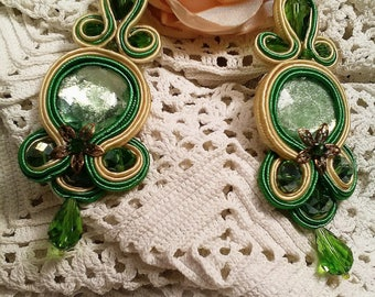 Flamenco earrings, party earrings, soutache earrings, lady complement, bridesmaid, godmother earrings, Mother's Day