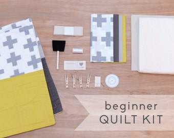 Crosses - DIY Baby Quilt Kit for Beginner Sewists and Quilters