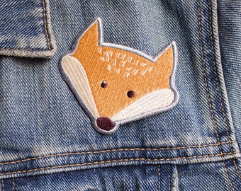Fox patch - Iron on Patches - Embroidered Patch - Cute Patches - Patches for Jackets - Badge - Woodland Animals - Cool Patches - Cute Gifts