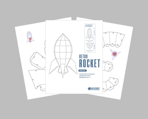 3D Paper Craft Rocketship