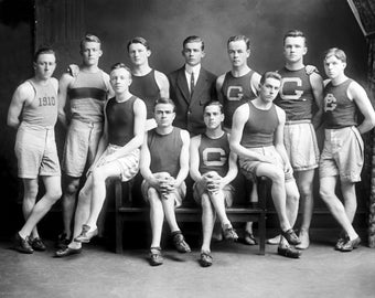 "1910 Georgetown University Track Team Vintage Photograph - 8.5"" x 11"" Repro"