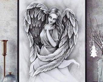 Angel - original art print