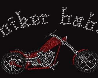 Rhinestone Biker Babe 3 Lightweight T-Shirt or DIY Iron On T Shirt Transfer                                  1HMB