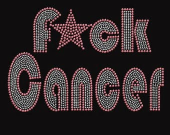 Rhinestone  Breast Cancer Ladies T Shirt or DIY Iron On Transfer     AM4C