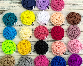 "3.2""15 Colors New Hot Good Quality Artificial Silk Rosette Flower For Baby Girls Hair Accessories/Headband For Hair Clips"