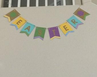 easter banner spring banner pennant banner