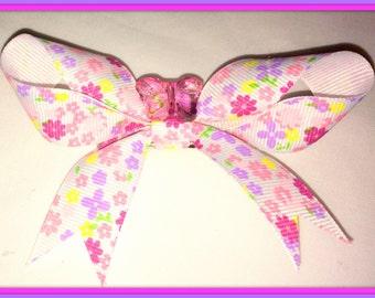 Multi Floral Hair Bow