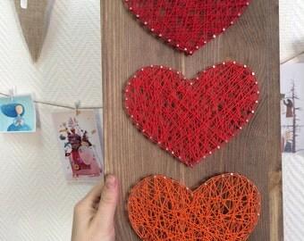 String art. Hearts