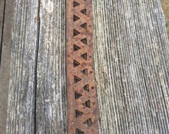 Rusty decorative metal piece