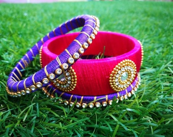Indian style silk thread bangles