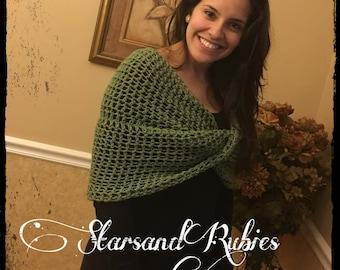 Crochet Summer Shrug womans Shawl womans wrap