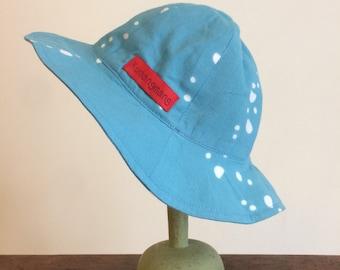 BABY hat in cotton/Cotton Baby Hat/Newborn baby gift/Baby shower gift/Japanese Tenugui hat/Baby summer hat/Baby sun hat/Baby cotton hat.