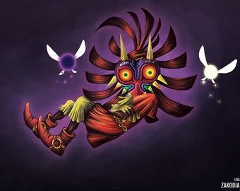ORIGINAL - Legend of Zelda: Majora's Mask Large Poster Print