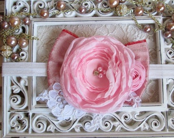 Silk dupioni chiffon flower headband for girl,teenager or woman