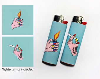 BEST BUDS! 2 Waterproof Vinyl Lighter Stickers For Standard BIC Lighter Size With Best Buds Weed Smoking Stoner Gifts
