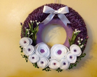 Double Yarn Wrapped Wreath