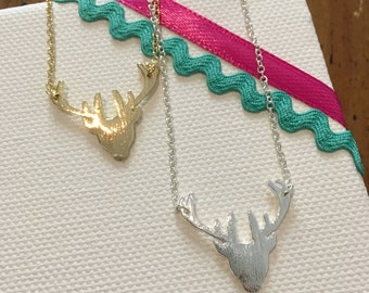 Deer, minimalist necklace