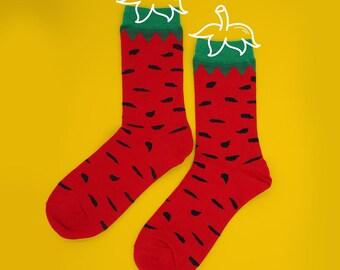 FREE SHIPPING Fresh strawberry socks