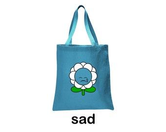 sad flower tote