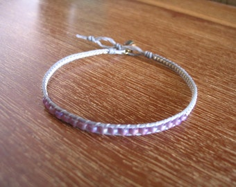 white purple Tiny Bracelet