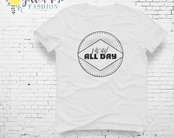 Fun Vacation Shirt, Vacay All Day, Trip Tee, Women's Fashion Quote Shirt, T-shirt, Trendy, Cute, Modern, Gift For Her, Graphic Tee, Apparel,