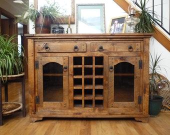 Rustic Wine Cabinet, Alder Cabinet, Licquor Cabinet, Wine Rack Part 80