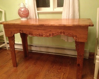 Rose harvest or entry table.