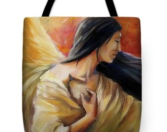 Holding beams of Light Tote Bag